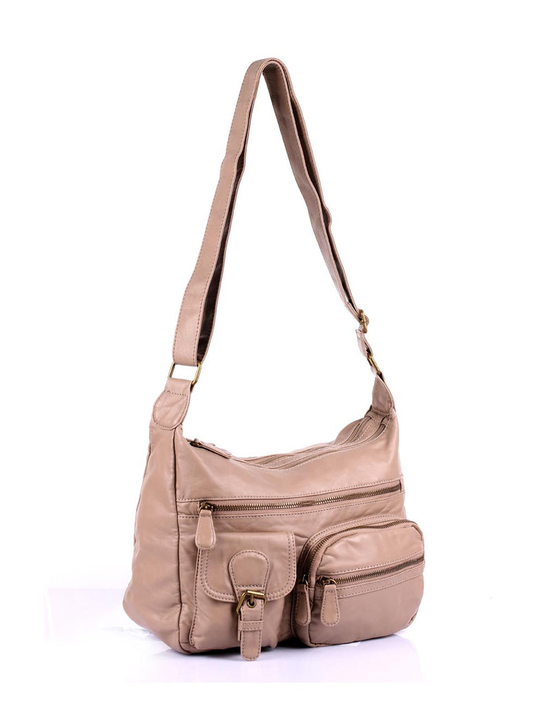 Charlotte Pre-Washed Women's Crossbody Hobo Bag VI More Colors - karlahanson.com