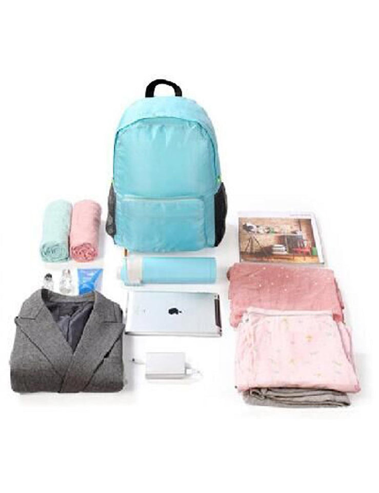 7ead4d50b977 Pack n Fold Foldable Travel Backpack Blue - karlahanson.com ...