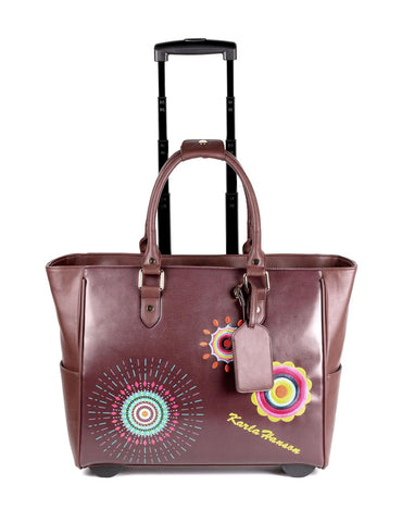 Women's RFID Bon Voyage Travel Trolley Embroidery - karlahanson.com