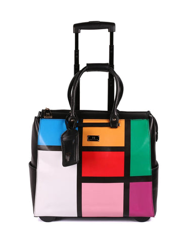 Women's RFID Travel Trolley Color Blocking - karlahanson.com