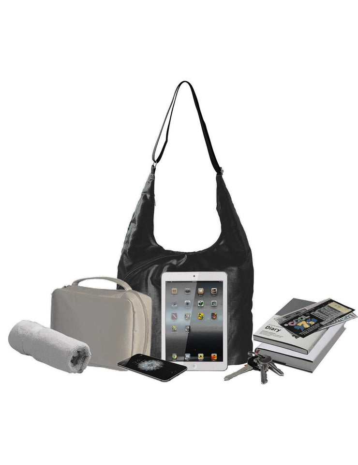 f6af4e356a5c ... Pack n Fold Foldable Hobo Crossbody Bag Black - karlahanson.com