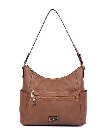 Lindsay Women's RFID Hobo Bag Black & Tan - karlahanson.com