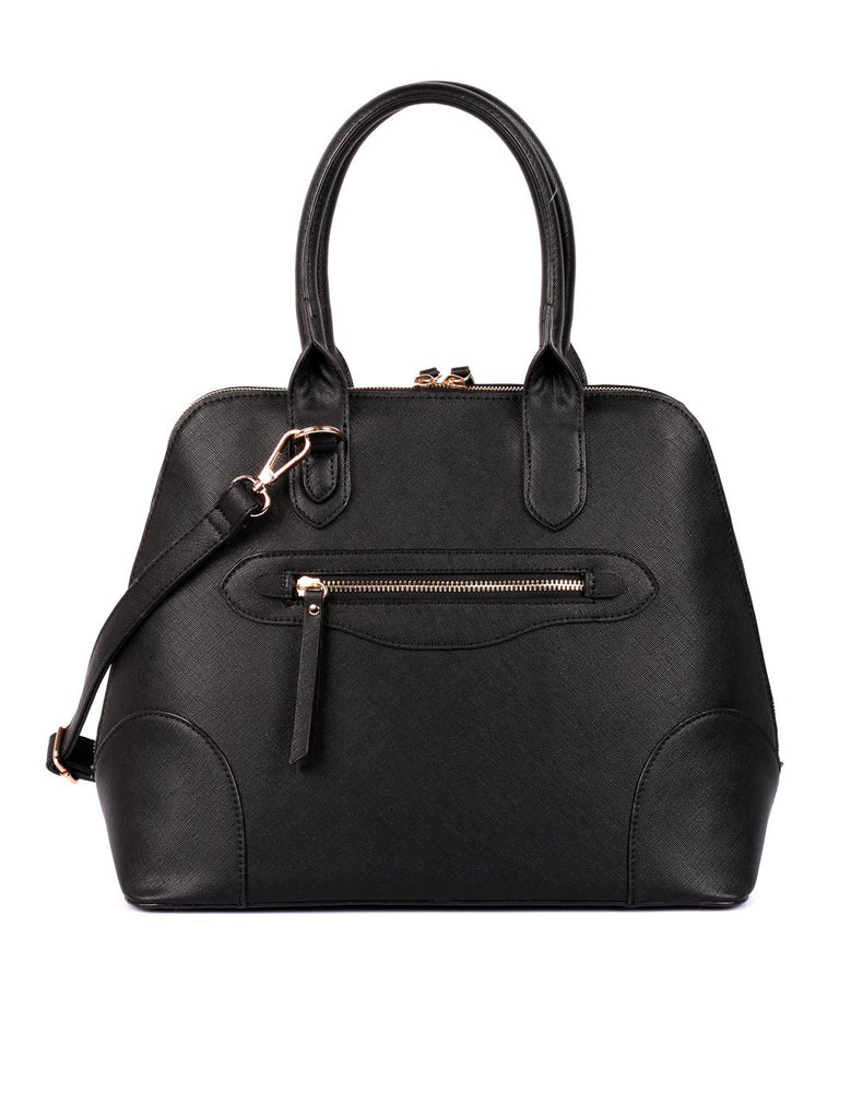 Julie Women's Dome Satchel Bag Black - karlahanson.com