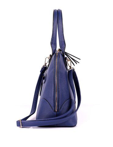 Julie Women's Dome Satchel Bag Navy - karlahanson.com