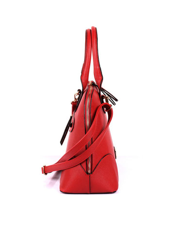 Julie Women's Dome Satchel Bag Red - karlahanson.com