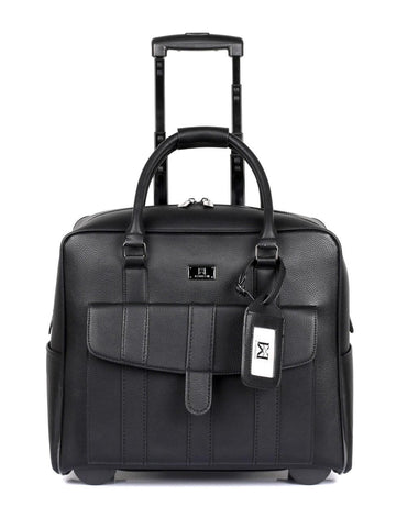 Men's RFID Professional & Travel Trolley Black Front - karlahanson.com