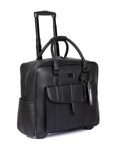 Travel Rolling Carry-on Luggage Black - karlahanson.com