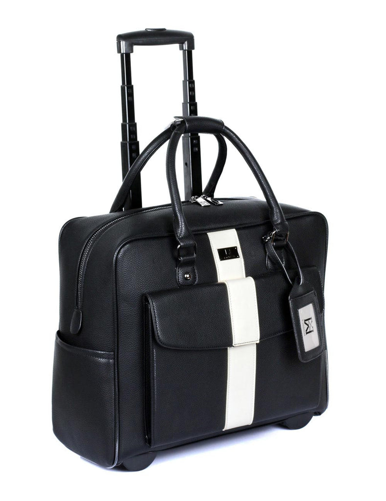 Travel Rolling Carry-on Luggage Black White Stripe - karlahanson.com