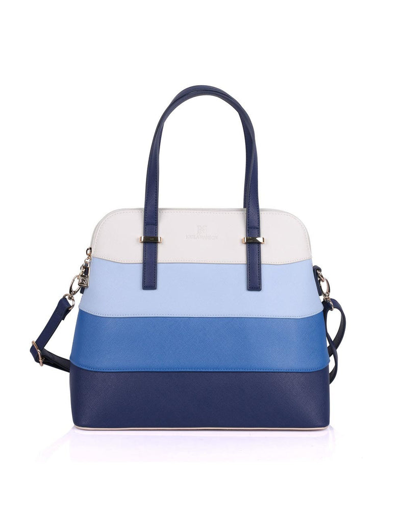 Dome Shaped Grace Women's Satchel Bag Blue Tone - karlahanson.com
