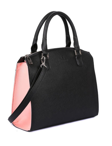 Grace Women's Satchel Bag Coral & Black - karlahanson.com