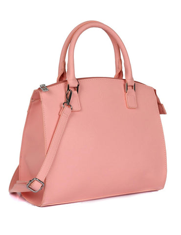 Grace Women's Satchel Bag with Strap Coral Side - karlahanson.com