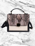 Linda Women's Top-Handle Crossbody Bag Python & Black - karlahanson.com
