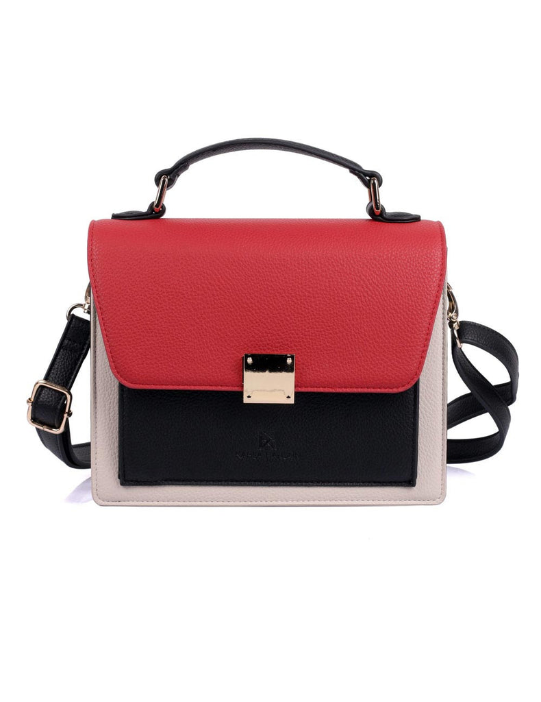 Linda Women's Top-Handle Crossbody Bag Red Tone - karlahanson.com