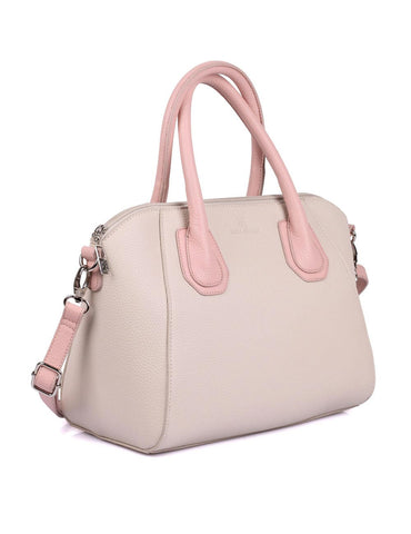 Grace Women's Satchel Bag with Strap Pink Tone Side - karlahanson.com