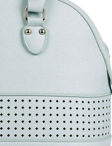 Shere Women's Laser Cut Satchel Bag Mint - karlahanson.com