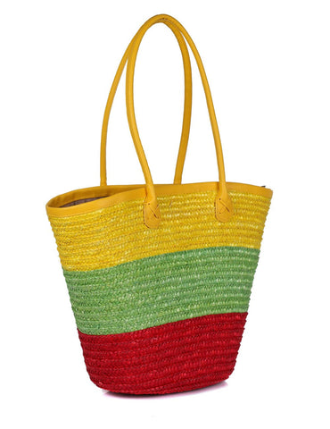 Women's Summer Beach Straw Bag Citris Tone - karlahanson.com