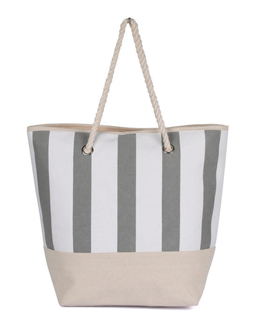 Women's Summer Nautical Stripe Bag Grey - karlahanson.com