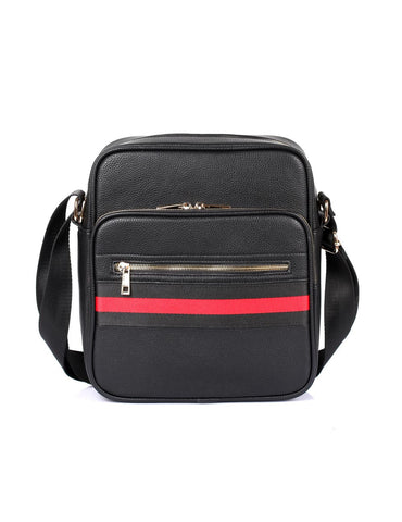 Men's Professional & Travel Flight Bag Black Red Stripe - karlahanson.com