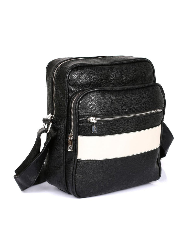 Men's Professional & Travel Flight Bag Black White Stripe - karlahanson.com