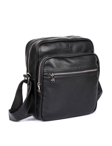 Men's Professional & Travel Crossbody Flight Bag Black - karlahanson.com