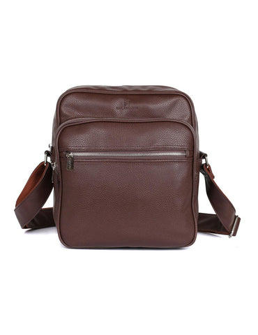 Men's Professional & Travel Crossbody Flight Bag Brown - karlahanson.com