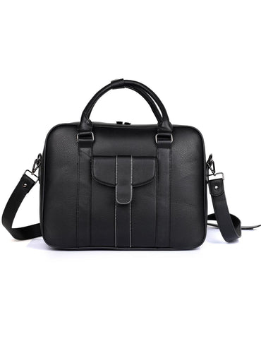 Men's RFID Professional & Travel Briefcase Black Front - karlahanson.com