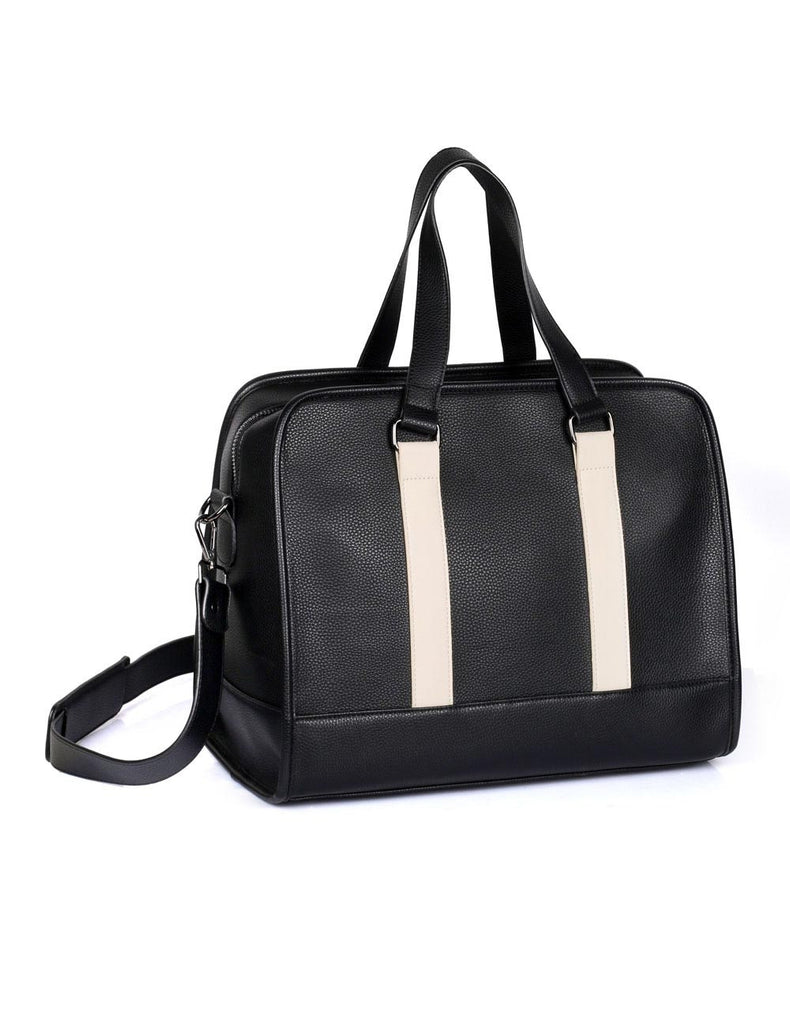Men's Professional & Travel Duffel Bag Black White Stripe - karlahanson.com
