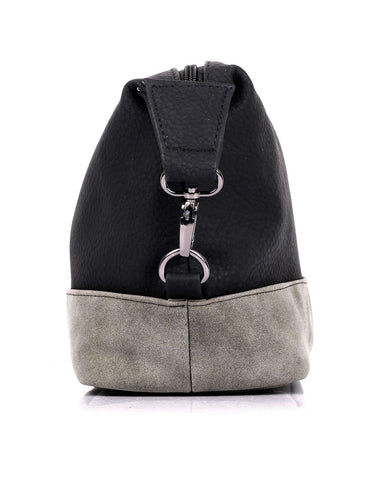 Men's Faux Suede Travel Toiletry Bag Black Grey - karlahanson.com