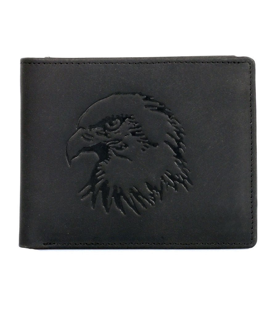 CANADA WILD Men's Hunter Leather Wallet Eagle