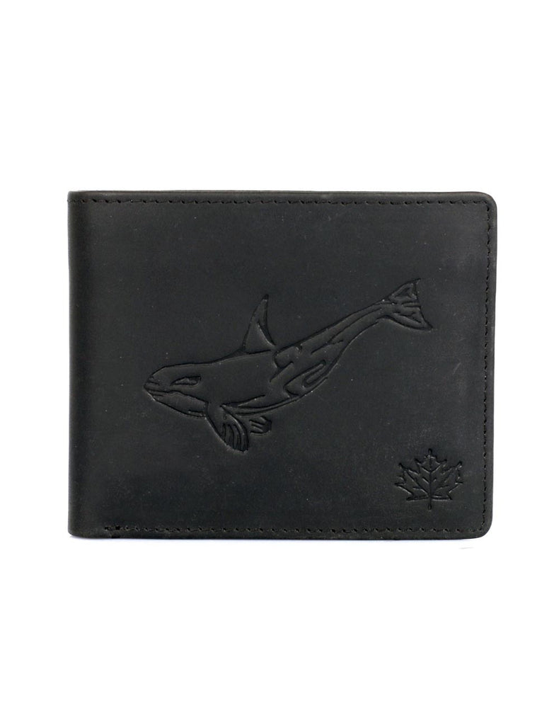 CANADA WILD Men's Hunter Leather Wallet Killer Whale - karlahanson.com
