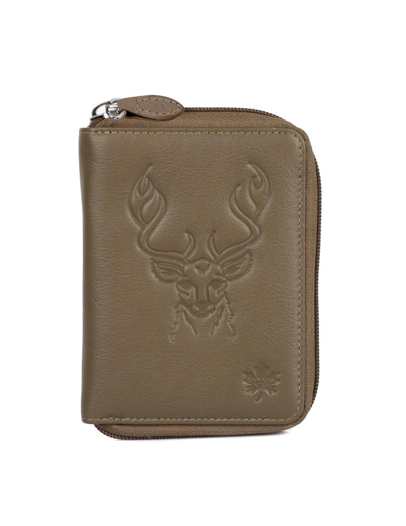 CANADA WILD Women's Leather Wallet Deer - karlahanson.com