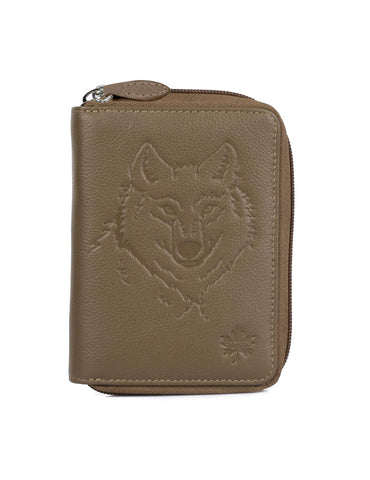 CANADA WILD Women's Leather Wallet Wolf - karlahanson.com