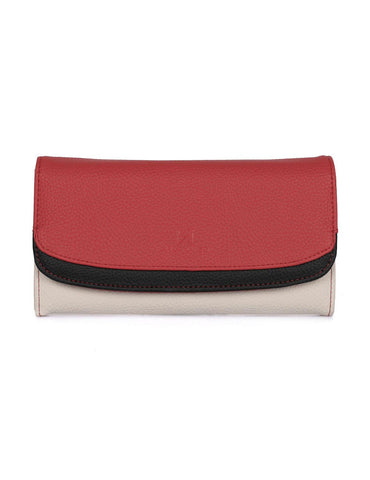 Gabrielle Women's Clutch Wallet Red Tone Front - karlahanson.com