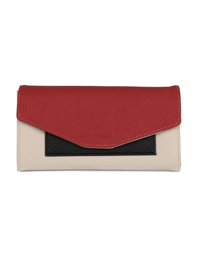 Gabrielle Women's Envelope Clutch Wallet Red Tone - karlahanson.com