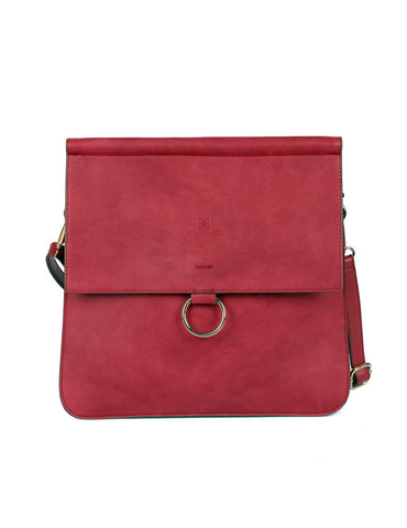 Isabella Women's Accordion Crossbody Bag Burnt Red