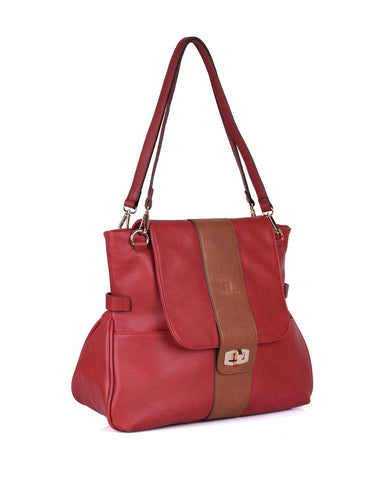 Isabella Women's Shoulder Bag Burnt Red - karlahanson.com