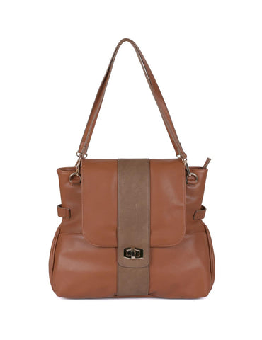 Isabella Women's Shoulder Bag Tan - karlahanson.com