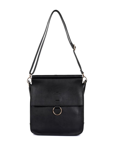 Isabella Women's Crossbody Bag with Ring Loop Black - karlahanson.com