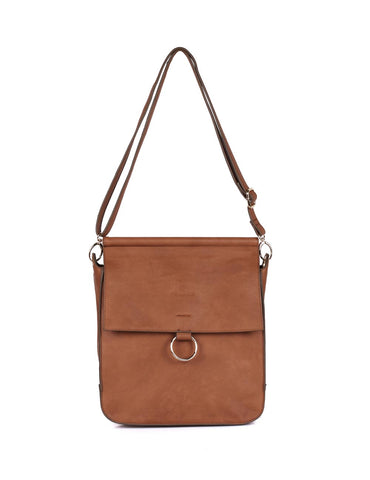 Isabella Women's Crossbody Bag with Ring Loop Tan