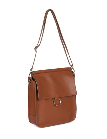 Isabella Women's Crossbody Bag with Ring Loop Tan - karlahanson.com