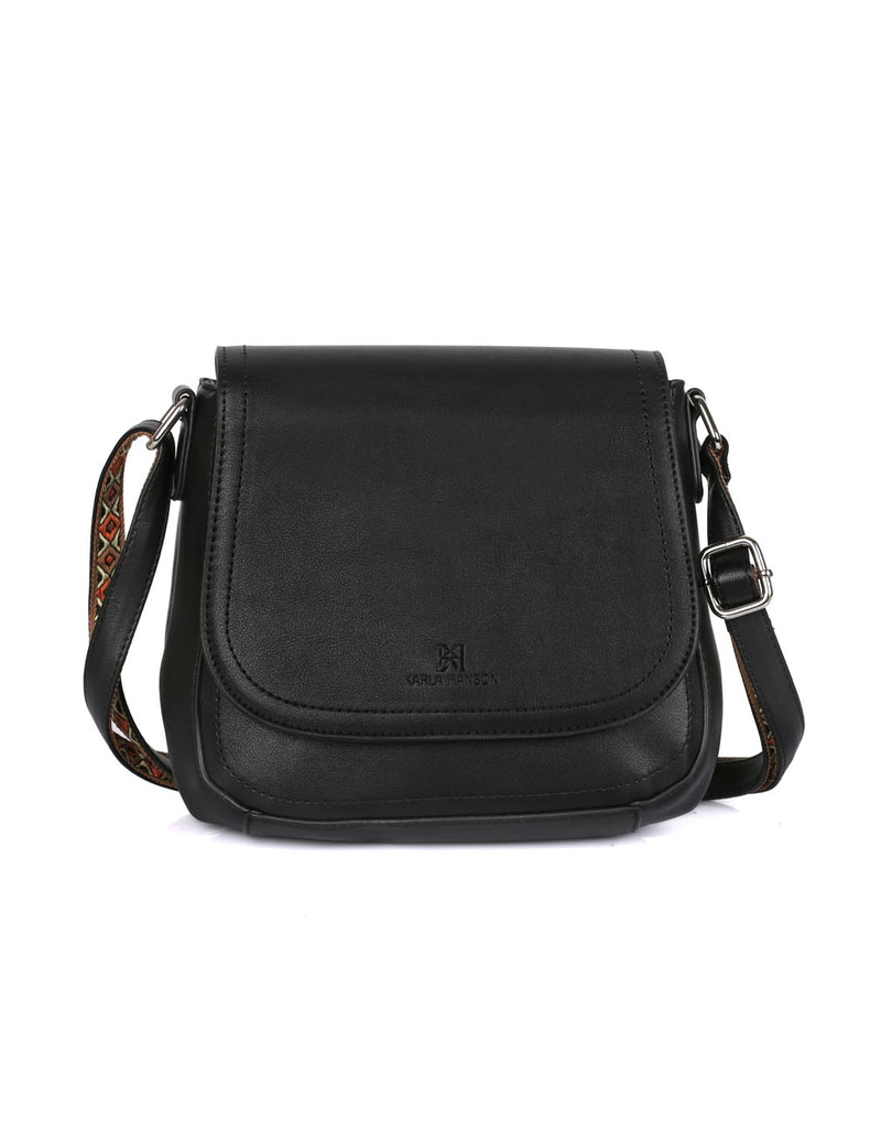 Isabella Women's Gypsy Crossbody Saddle Bag II Black - karlahanson.com