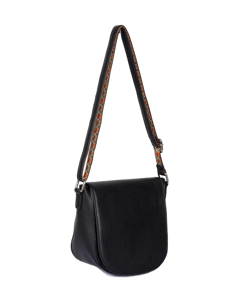 Isabella Women's Gypsy Crossbody Saddle Bag I Black - karlahanson.com
