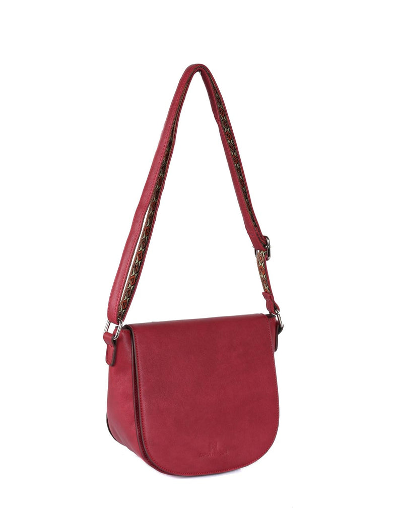 Isabella Women's Gypsy Crossbody Saddle Bag I Burnt Red - karlahanson.com
