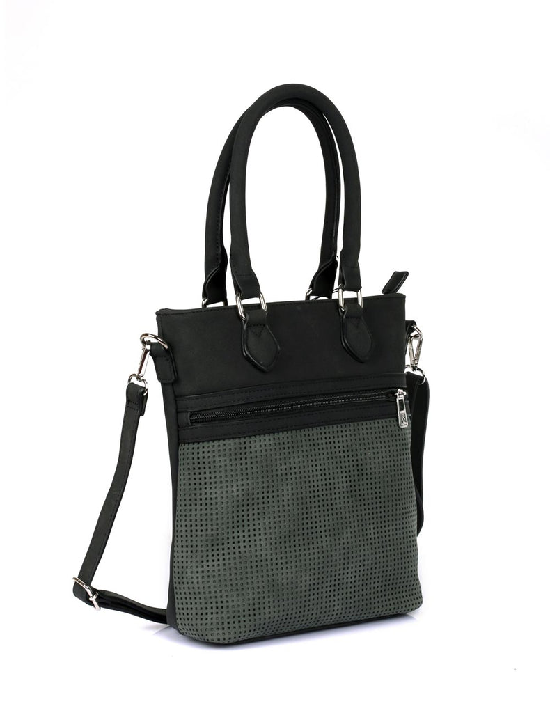 Ava Women's Laser Cut Crossbody Bag Forest Green - karlahanson.com