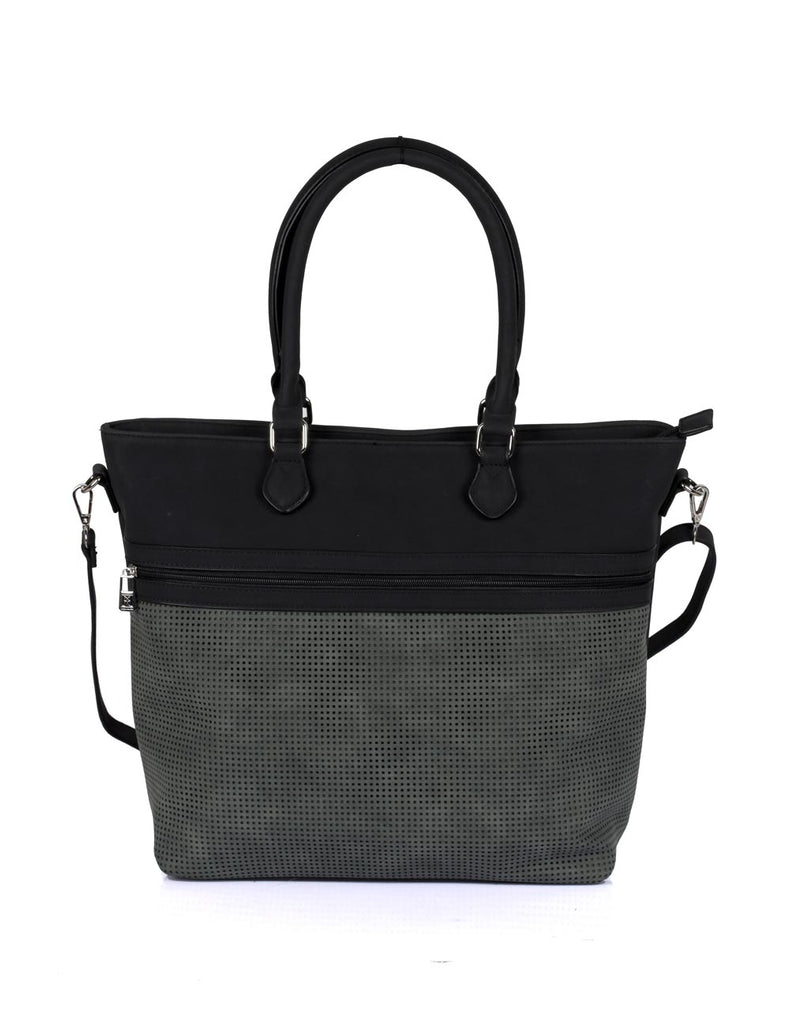 Ava Women's Laser Cut Tote Bag Forest Green - karlahanson.com