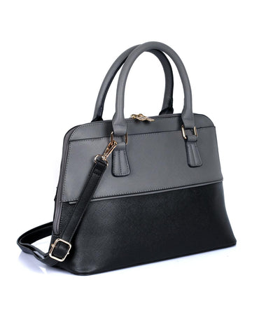 Riley Women's Satchel Bag Grey Black - karlahanson.com