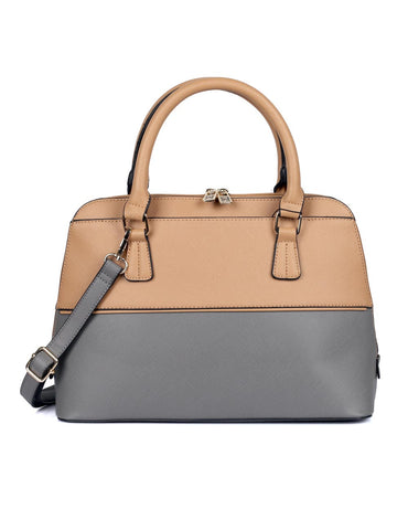 Riley Women's Satchel Bag Tan Grey - karlahanson.com
