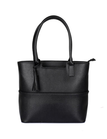 Riley Women's Tote Bag with Tassel - Black - karlahanson.com