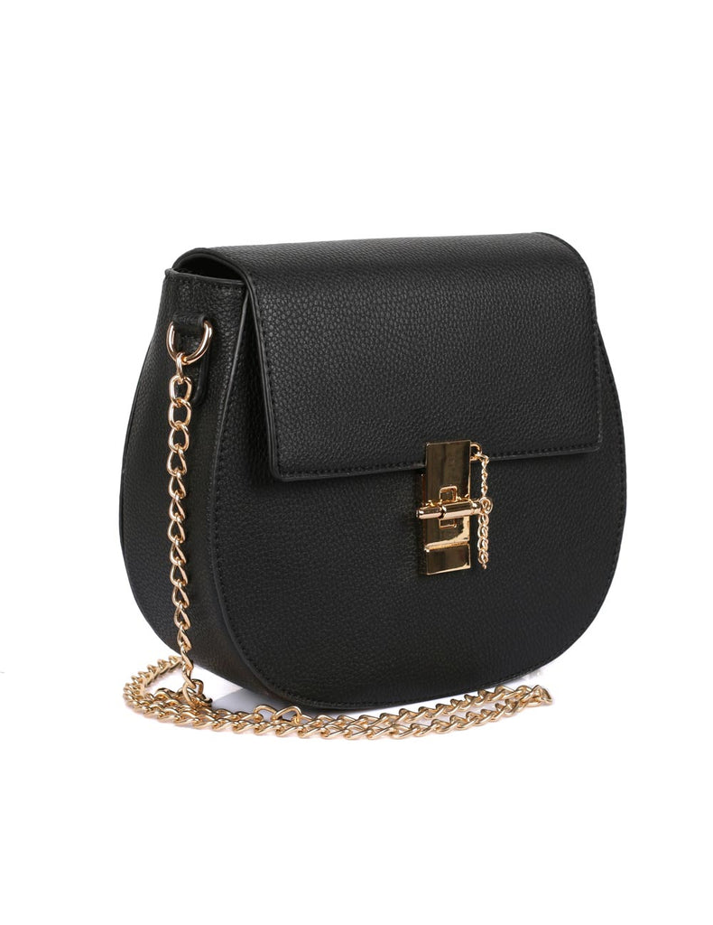 Madison Women's Crossbody Saddle Bag Black - karlahanson.com