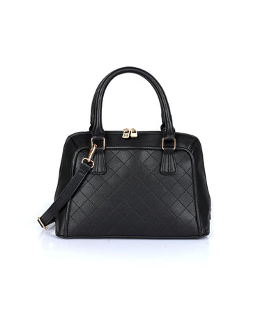 Elizabeth Women's Quilted Satchel Bag Black - karlahanson.com